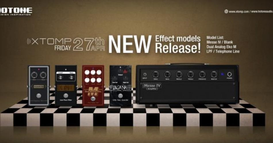 Five free new effects for Hotone Xtomp